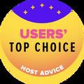 Dianugerahkan kepada top 10 perusahaan hosting dengan penilaian pengguna tertinggi.