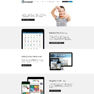 Bravenet HomePage Screenshot