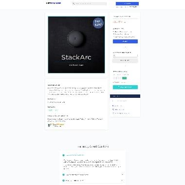 StackArc HomePage Screenshot