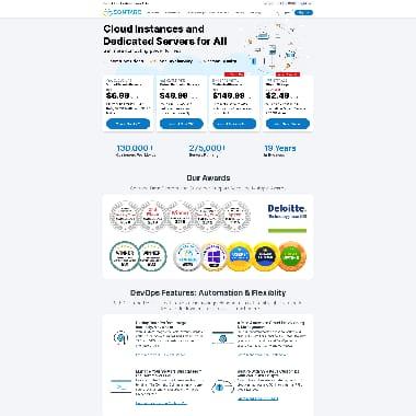 Contabo HomePage Screenshot