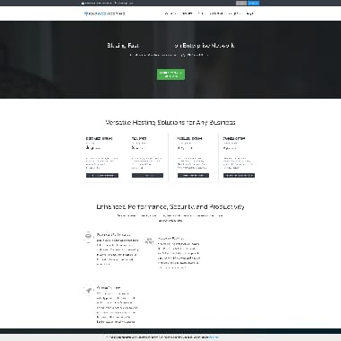 Rad Web Hosting HomePage Screenshot
